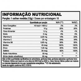 Collagen + Hyaluronic Acid & Biotin - Tabela Nutricional