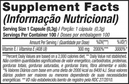 VITAMINA E BLACK SKUL - TABELA NUTRICIONAL